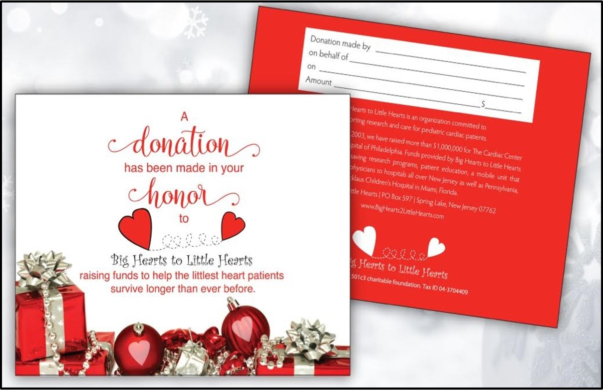 Donation cards big hearts to little hearts kristyandbryce Image collections